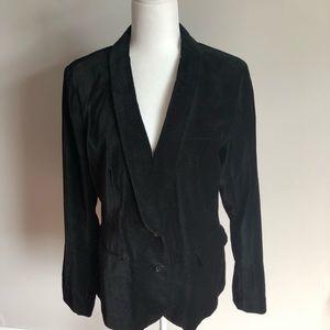 Banana Republic black velvet jacket